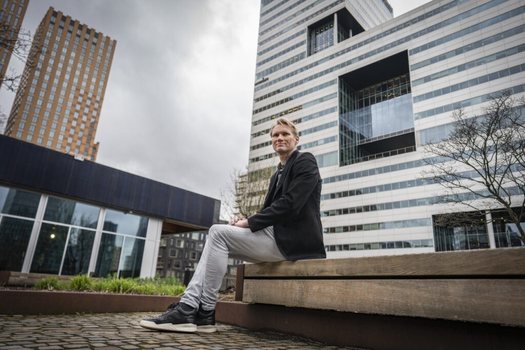 Menno van Leeuwen of ABN-AMRO on the roof of CIRCL, an ABN-AMRO initiative.